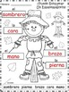 A+ Scarecrow Labels: Spanish