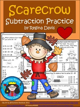 A+  Scarecrow: Subtraction Practice