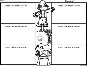 A+ Scarecrows: Easy Plans...Editable Papers For Scarecrow Fall Lessons