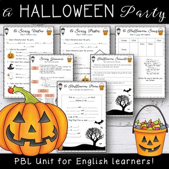 A Scary Party - EFL Worksheets #birthdaysale35