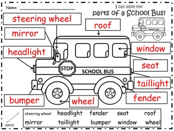 A+ School Bus Labels