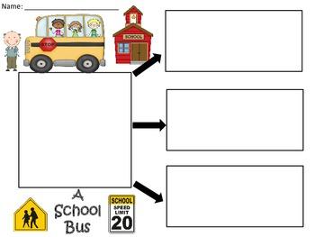 A+  School Bus FREEBIE ... Three Graphic Organizers