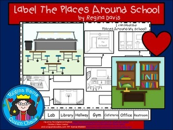 A+ School Labels....Labeling Places Around School