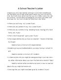 A School Teacher's Letter Project