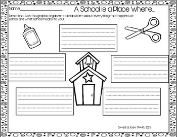 FREE~A School is a Place Where...{A Printable End of the Year Writing Resource}