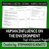 Human Influence on the Environment Project