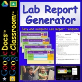 Awesome Lab Report Template /  Generator for DIGITAL Googl
