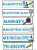A+ Science: Magnified Art ....Song/Poem, Observe and Record, Word Wall,