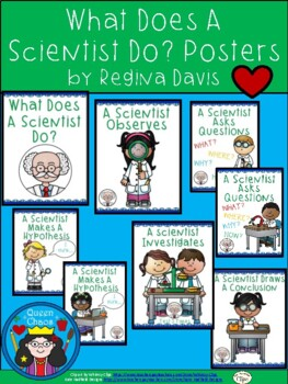 A+ Science Posters...What Does A Scientist Do?