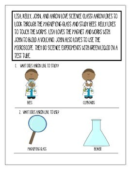 Reading Comprehension: Science Class