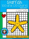 A+ Sea Star of Starfish: Numbers 100 and 120 Chart