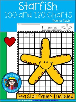 A+ Sea Star or Starfish: Numbers 100 and 120 Chart