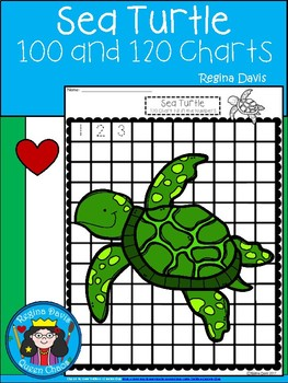 A+ Sea Turtle: Numbers 100 and 120 Chart