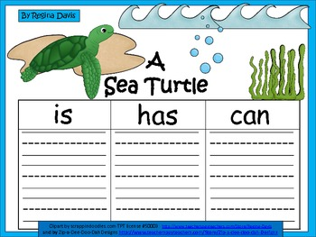 A+  Sea Turtle ... Three Graphic Organizers