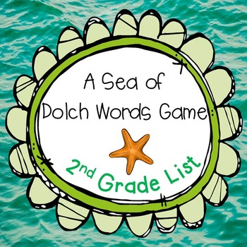 A Sea of Dolch Words Game 2nd Grade Set
