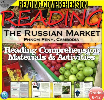 Cambodian Local Market - Non-Fiction Reading Comprehension | Cultural Activities