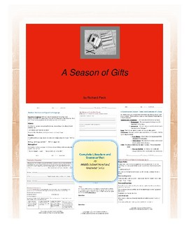 A Season of Gifts Complete Literature and Grammar Unit