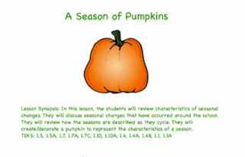 A Season of Pumpkins Powerpoint Presentation