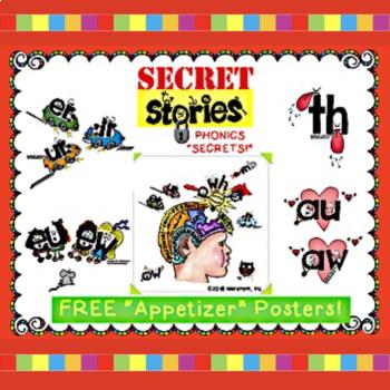 A SECRET STORIES® Sampling of Phonics Secrets!  (phonics chunks/spelling chunks)