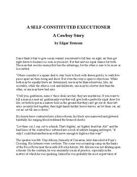 A Self-Constituted Executioner