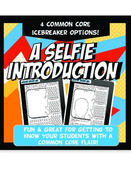 A Selfie Introduction Fun Back to School Icebreaker Common Core Printable