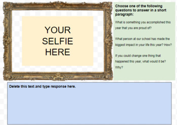 A Selfie Reflection: An End of Year Activity