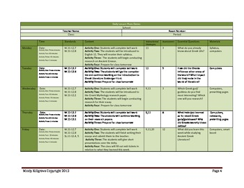 A Semester of Advanced Senior English Lesson Plans- Block Schedule