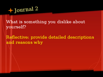 A Semester of ELA Journal prompts