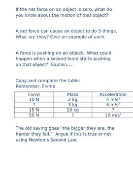 A Semester of Physics Bellringers/Bell Work/Warm Up questions