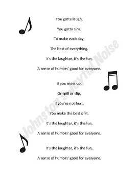 SAMPLE A Sense of Humor - Character Traits/Life Skills/SEL Song