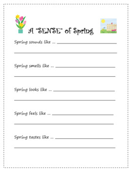 """A """"Sense"""" of the Season - Making Observations and Writing"""