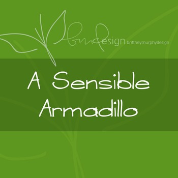 A Sensible Armadillo Font for Commercial Use