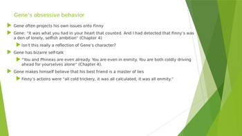 A Separate Peace- Analyzing Gene's Internal Conflict PPT- Chapter 4