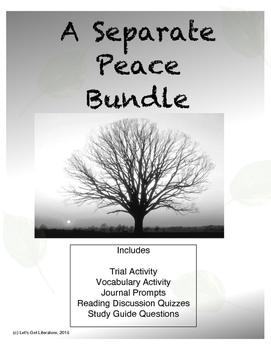 A Separate Peace Activities Bundle