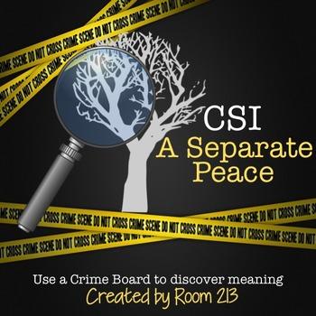 A Separate Peace CSI Crime Board