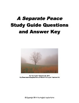 A Separate Peace Chapter Questions and Answer Key