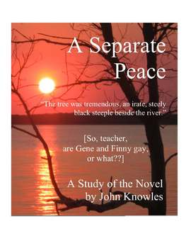 A Separate Peace Close Reading Study Guide, 31 Pages ...