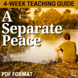 A Separate Peace Novel Study Unit - Activities, Questions, Quizzes, Tests
