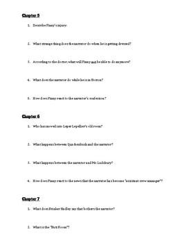 A Separate Peace: Comprehension Questions