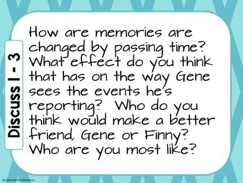 A Separate Peace - Group Discussion Questions