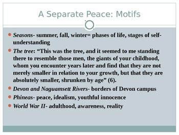 A Separate Peace Introduction PowerPoint