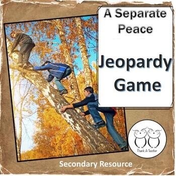 A Separate Peace Jeopardy
