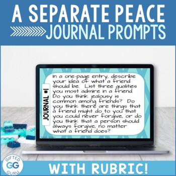 A Separate Peace Journal Prompts - Common Core Aligned