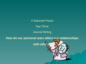A Separate Peace Journal Writing - John Knowles AP Language