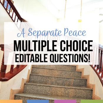 A Separate Peace Multiple Choice Quizzes