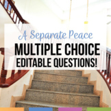 A Separate Peace Multiple Choice Quizzes
