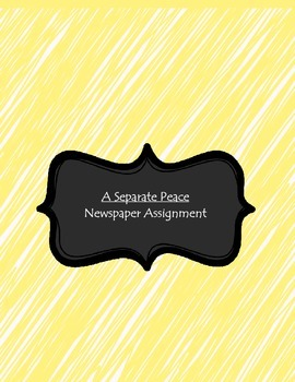 A Separate Peace Newspaper Activity