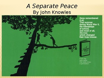 A Separate Peace PowerPoint Introduction - Engaging Presentation - CCSS Aligned