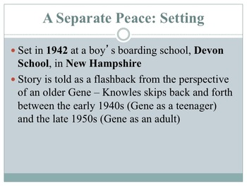A Separate Peace Novel Unit Bundle