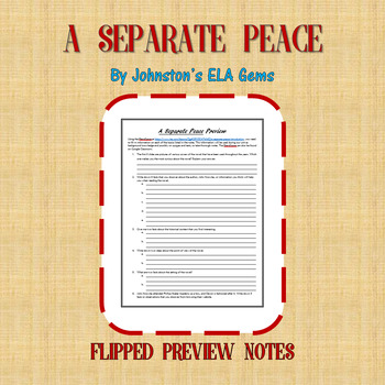 A Separate Peace Preview